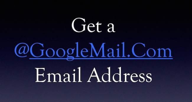 GoogleMail email address