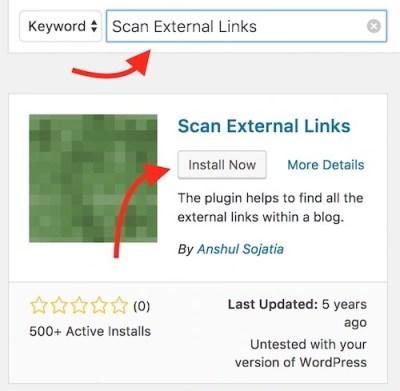 Scan external link