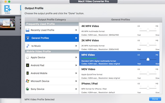 Convert 4K Videos at the Fastest Speed with MacX Video Converter Pro