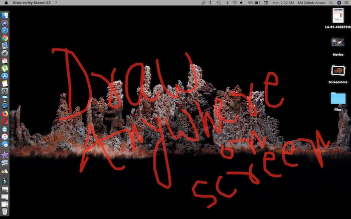 draw anywhere on screen