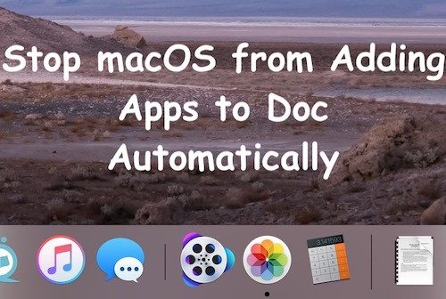 Prevent Mac from Showing Recent Used Applications in the Dock