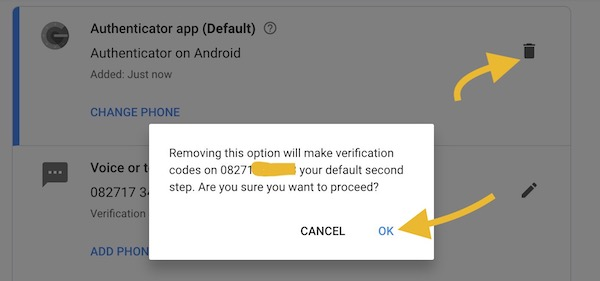 removing google auth