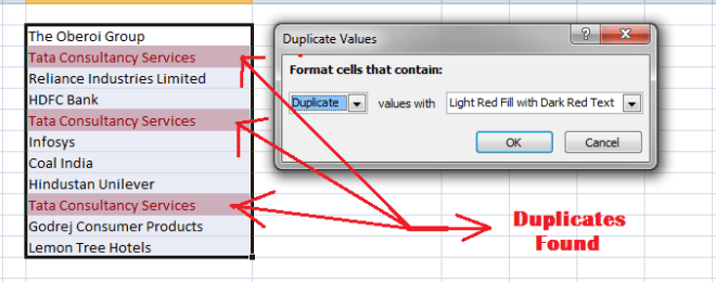 find duplicates in excel
