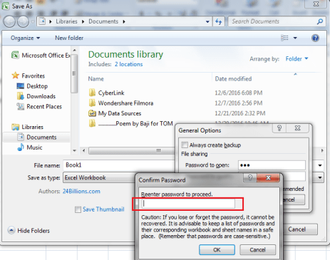 how to lock excel file