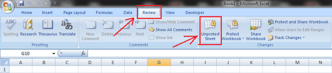 How to Protect excel sheet