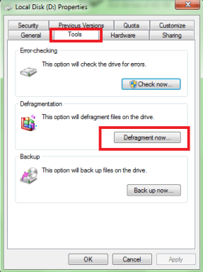 disk defragment to increase laptop speed faster 2