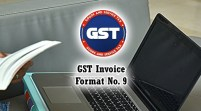 GST Invoice Format in Excel, Word, PDF and JPEG (Format No. 9)
