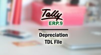 Depreciation Add-on TDL File for Tally ERP 9