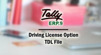 Driving License Option Add-on TDL File for Tally ERP 9