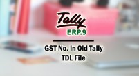 GST No. in Old Tally Add-on TDL File for Tally ERP 9