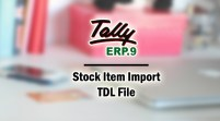 Stock Item Import Add-on TDL File for Tally ERP 9
