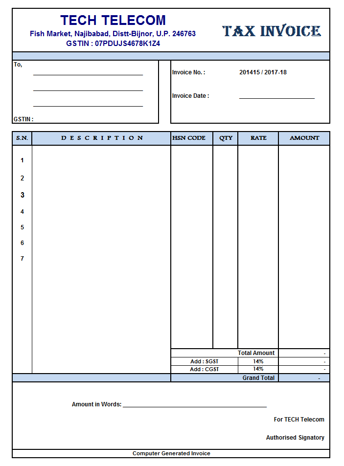 Australian Invoice Sample Solan Annafora Co