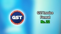 GST Invoice Format in Excel, Word (Format No. 22) .xls, .doc file