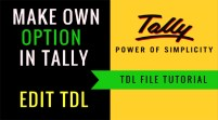 Edit TDL: Make Own TDL File Option by Changing This TDL in Tally