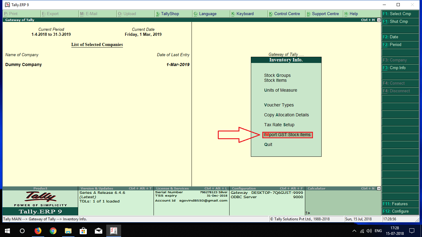 Stock Item Import From Excel To Tally Tdl