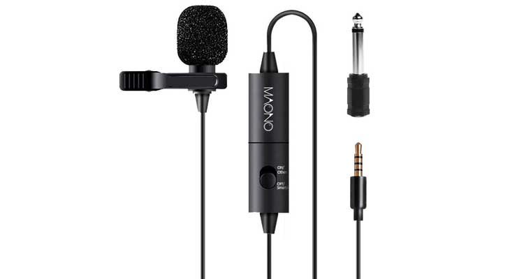 Maono AU-100 Condenser Clip On Lavalier Microphone