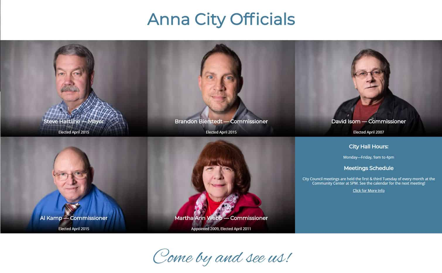 Responsive website design for City of Anna, IL