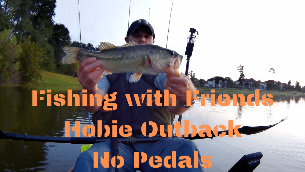 Lake Paloma Fishing with Friends Hobie Outback with No Pedals