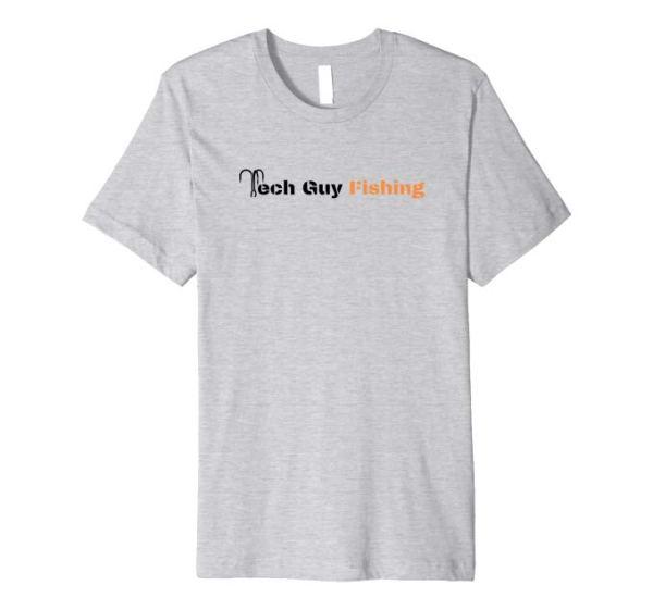 Tech Guy Fishing Premium T-Shirt Heather Grey