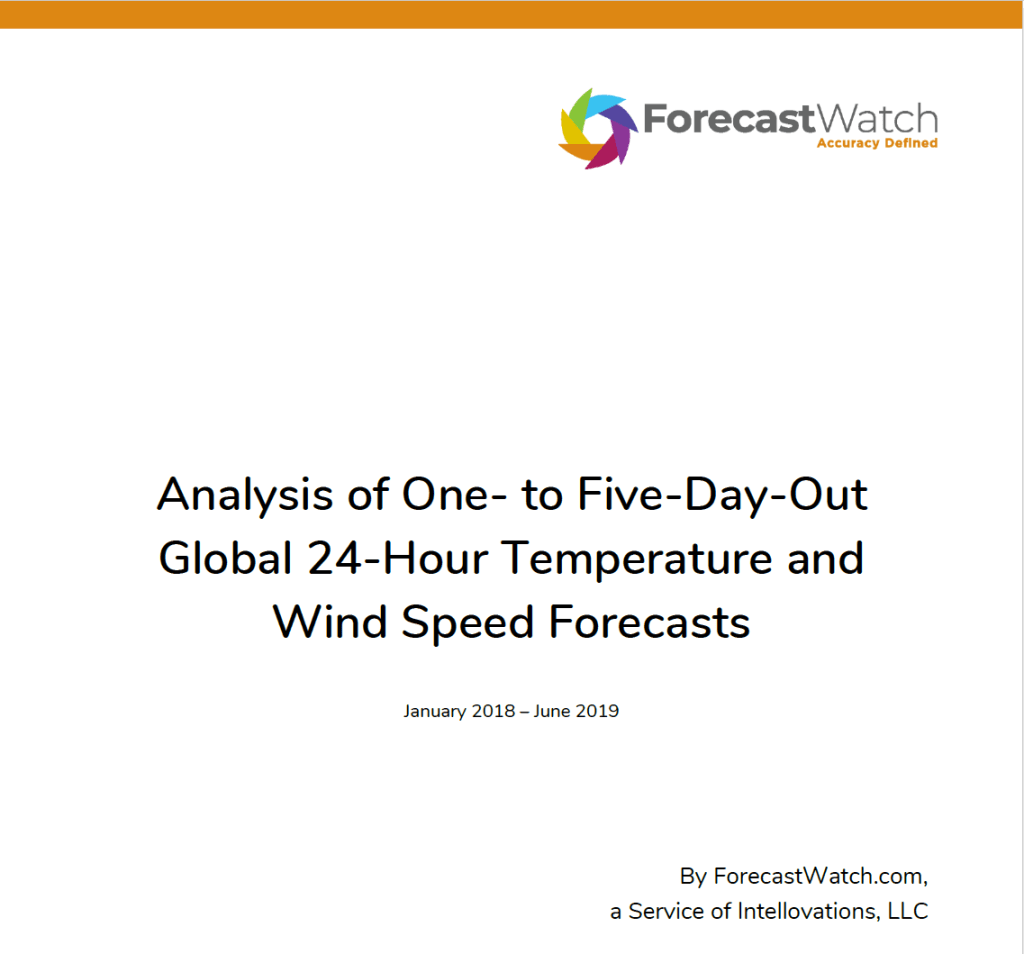 Forecast Watch 2018-2019 June AccuWeather Global Report