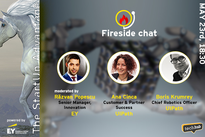 Fireside chat Boris Krumrey & Ana Cinca from UiPath, powered