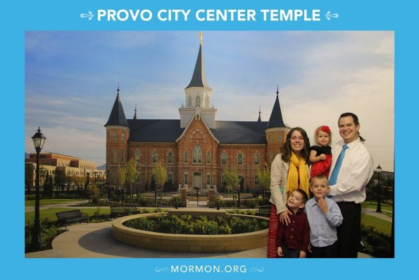 My family at the temple open house - thanks kids for not making normal faces for the camera... that was really my hope.