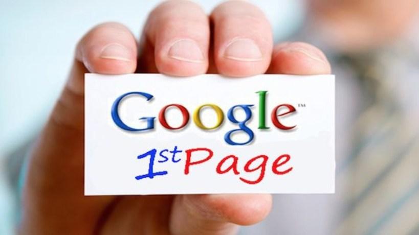 Google 1st page ranking