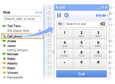 Free Calls From Gmail To USA and Canada From Outside USA