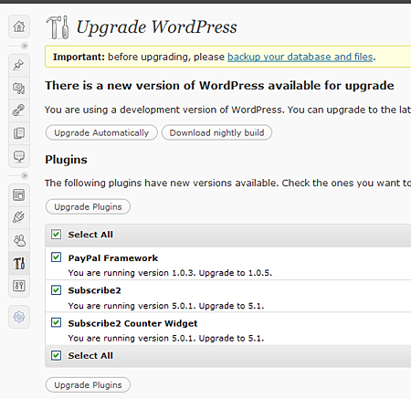 Wordpress Batch Plugin Update