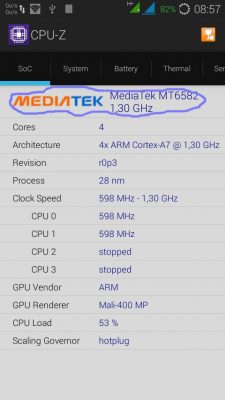 CPU-Z Mediatek
