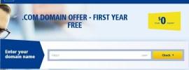 Obtenir un nom de domaine .COM gratuit sur 1and1.com