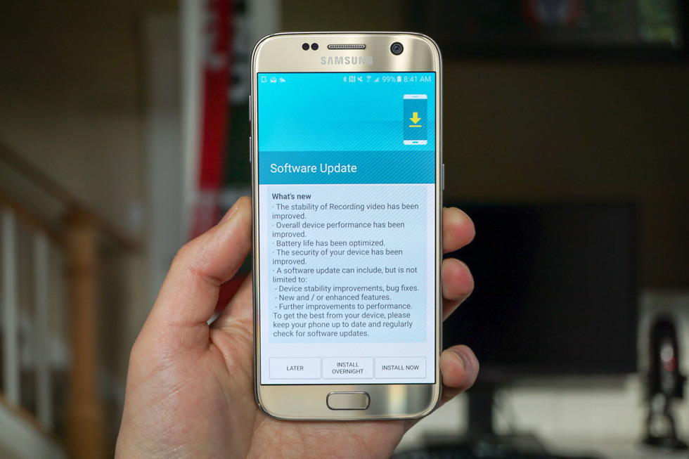 August Security Patch now available for the Galaxy S7 and S7