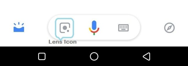 Google Lens Icon on Google Assistant