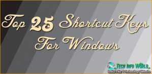 Main Top 25 Shortcut Keys For Windows System