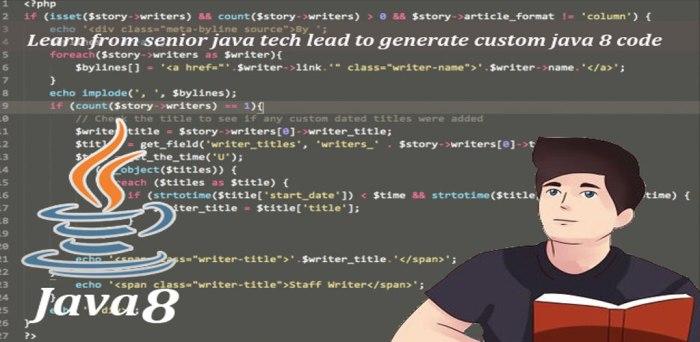 Learn from senior java tech lead