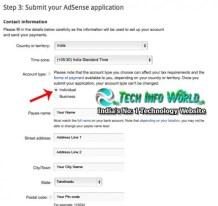 Google-Adsense-contact-fill-information