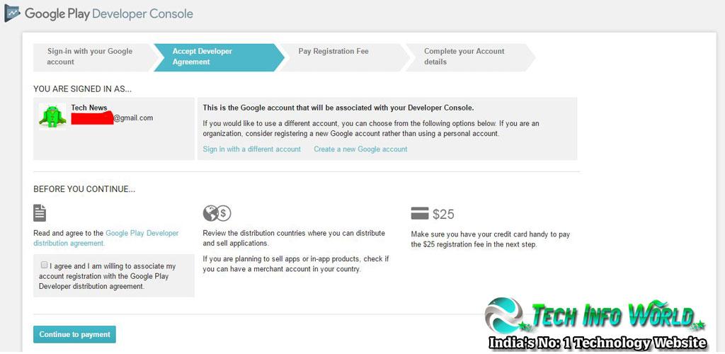 Google Play Developer Console Account