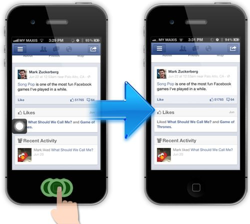 Assitive touch on/off in iPhone