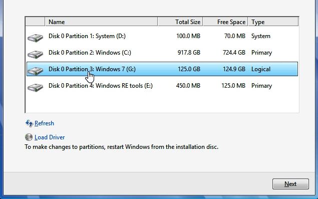 Recover Data after Partitioning Error