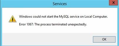 The Process Terminated Unexpectedly Error