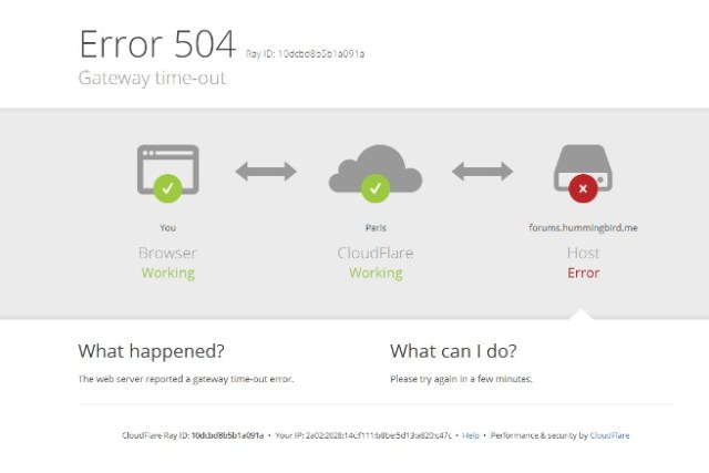 Troubleshoot as an HTTP 504 Gateway Timeout Error