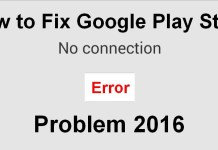 Play Store no Connection