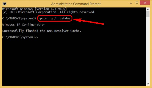 ERR_SPDY_PROTOCOL_ERROR Flush DNS Using CMD (Command Prompt)