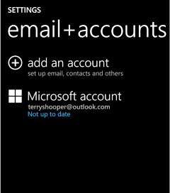 Sync your Microsoft Account