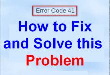 Error Code 41
