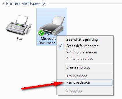 Restoring Default Printer State