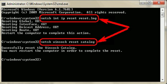 Resetting the Catalog and IP DNS_PROBE_FINISHED_NXDOMAIN
