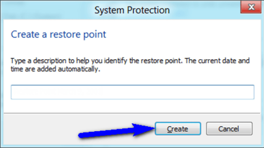 Use or Create a Restore Point