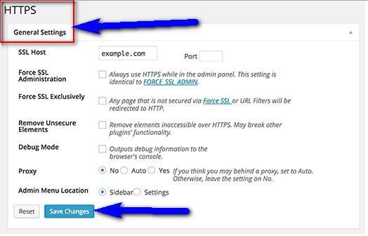 Change your HTTPS Settings
