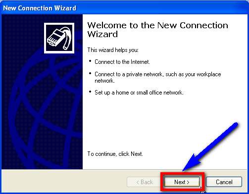 Connect to your ISP New Connection Wizard ERR_INTERNET_DISCONNECTED